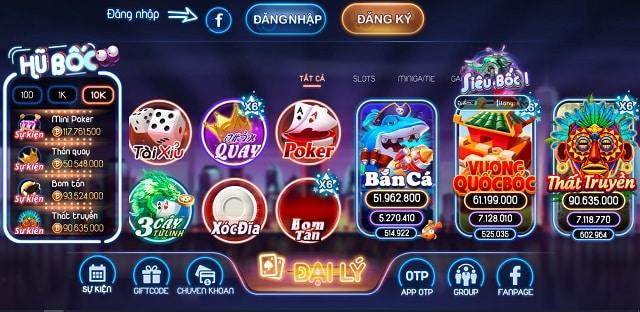 Bocvip Club với chuỗi slot game hấp dẫn nhất