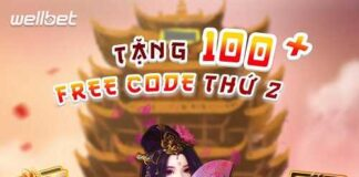 WellBet: Thứ 2 nhận ngay 100 Free GiFTCODE